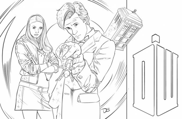 Coloring Book Of Doctor Who Time Machine