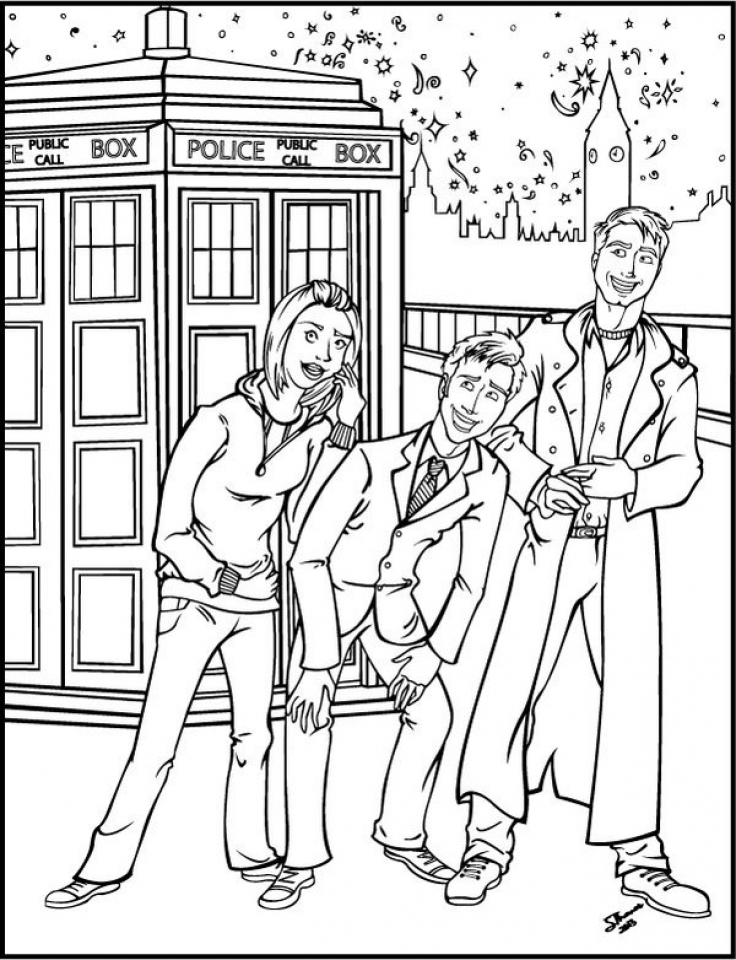Get this doctor who coloring pages online printable b6qsa for Coloring page doctor