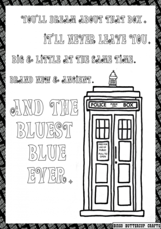 Get This Easy Preschool Printable Of Doctor Who Coloring