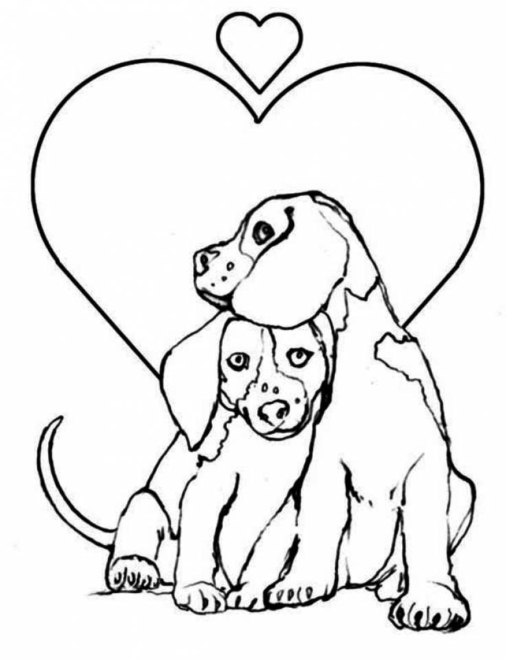 Get this easy preschool printable of puppy coloring pages for Free coloring pages of dogs