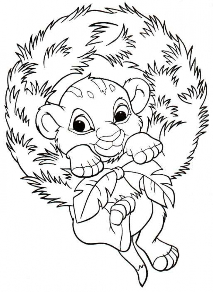 Free Disney Christmas Coloring Pages for Toddlers   4JGO1