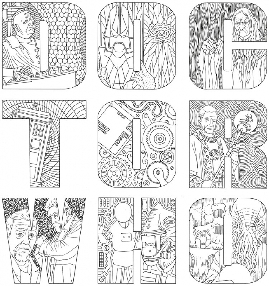 Coloring pages for doctors day - Free Doctor Who Coloring Pages For Toddlers 4jgo1
