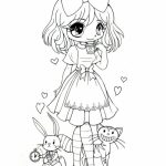 Free Preschool Chibi Coloring Pages to Print   T77HA