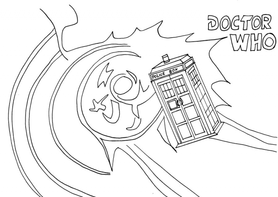 Free Preschool Doctor Who Coloring Pages to Print   T77HA