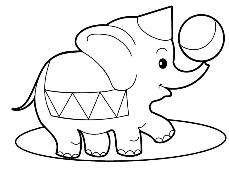 Cartoon animals coloring pages for kids