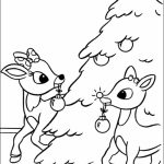 Free Rudolph Coloring Page for Kids   AD58L
