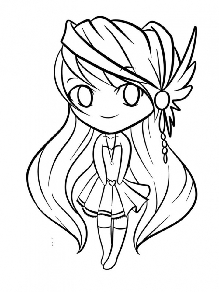 Get This Free Simple Chibi Coloring Pages For Children Cm3xv