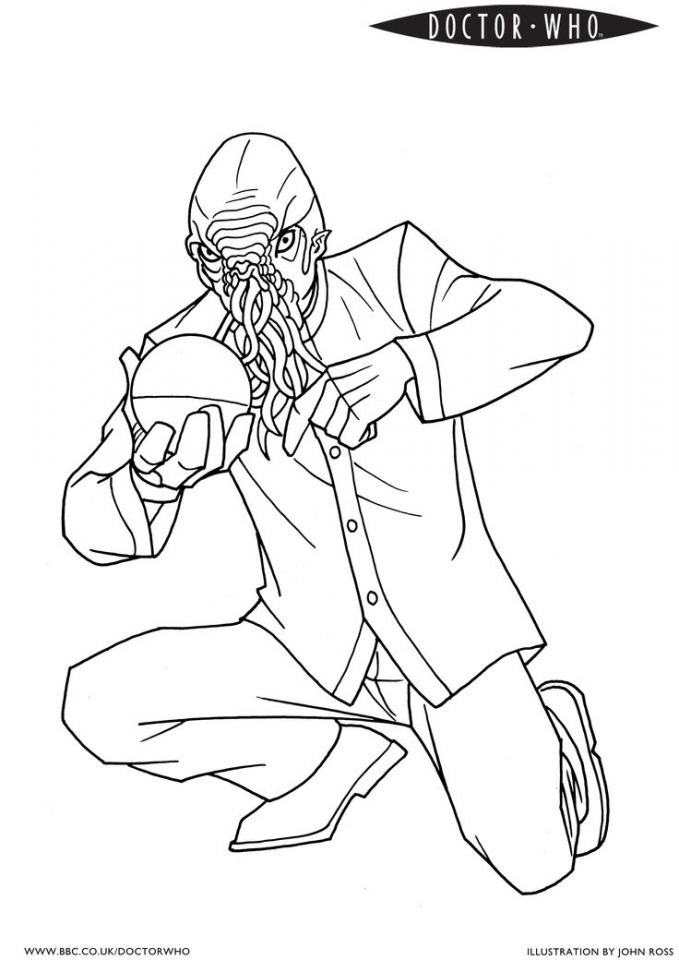doctor who coloring pages for kids | Get This Free Simple Doctor Who Coloring Pages for ...