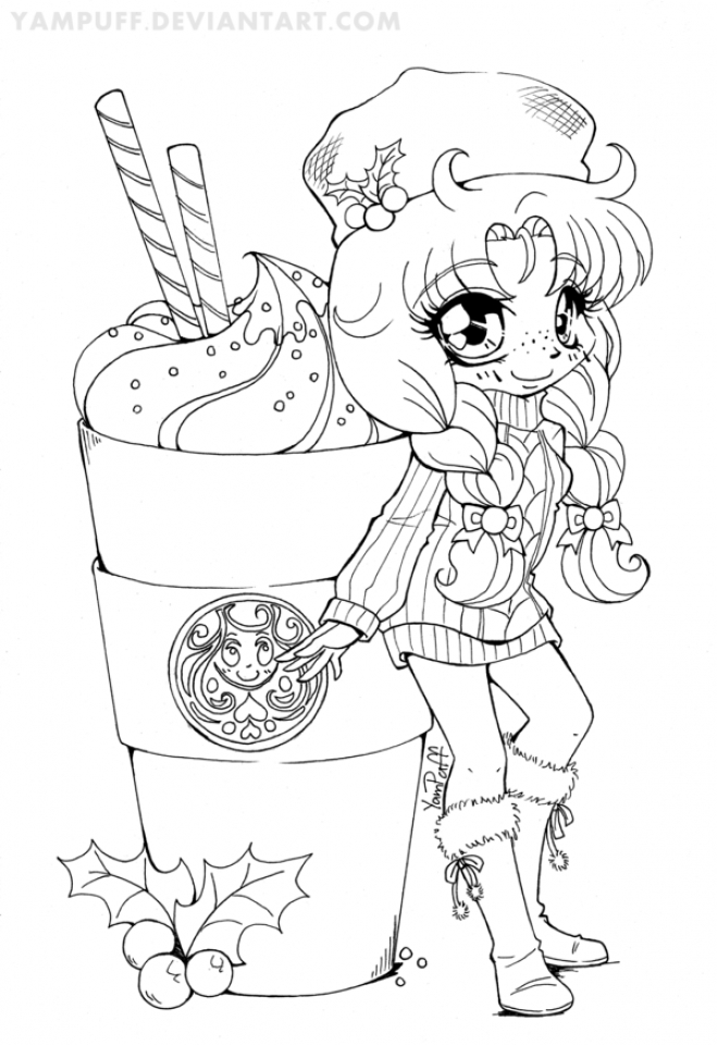 create coloring pages online | Get This Online Chibi Coloring Pages for Kids OS92R
