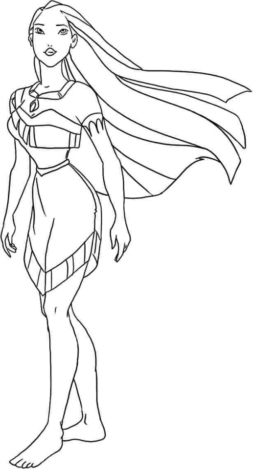 Online Pocahontas Coloring Pages for Kids   OS92R