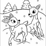 Rudolph Coloring Page Printable for Kids   WY71R