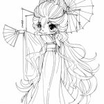 Simple Chibi Coloring Pages to Print for Preschoolers   0VJOR