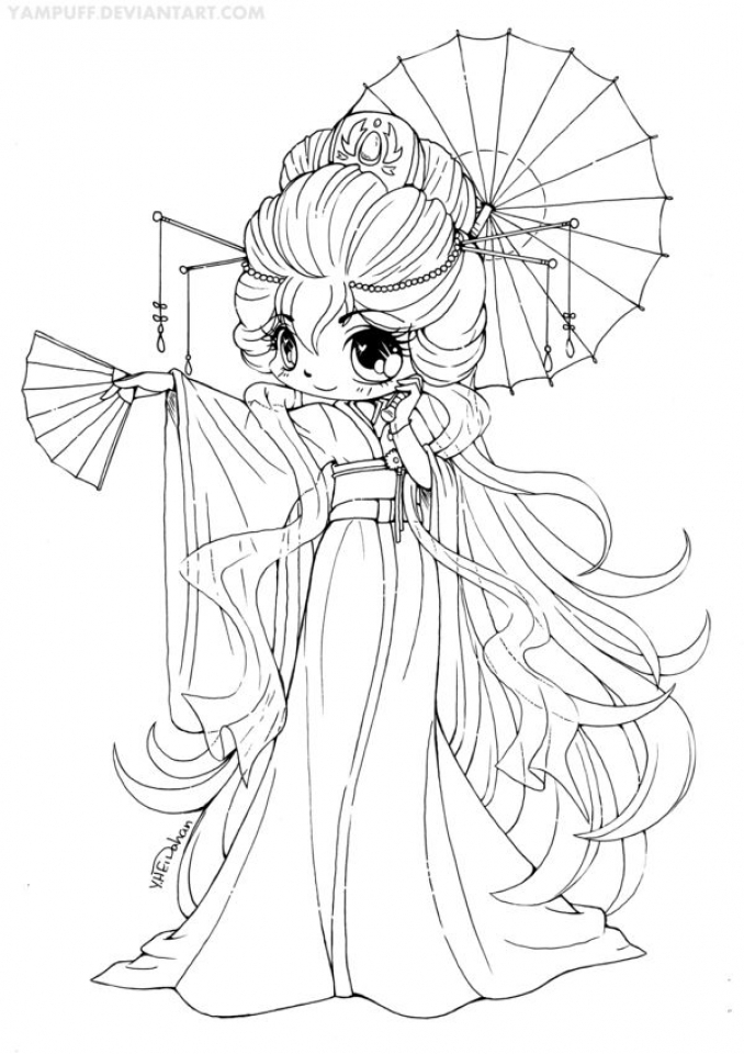 Get This Simple Chibi Coloring Pages to Print for ...