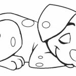 Simple Puppy Coloring Pages to Print for Preschoolers   0VJOR