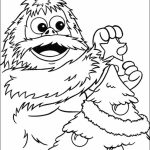 Simple Rudolph Coloring Page to Print for Preschoolers   0VJOR