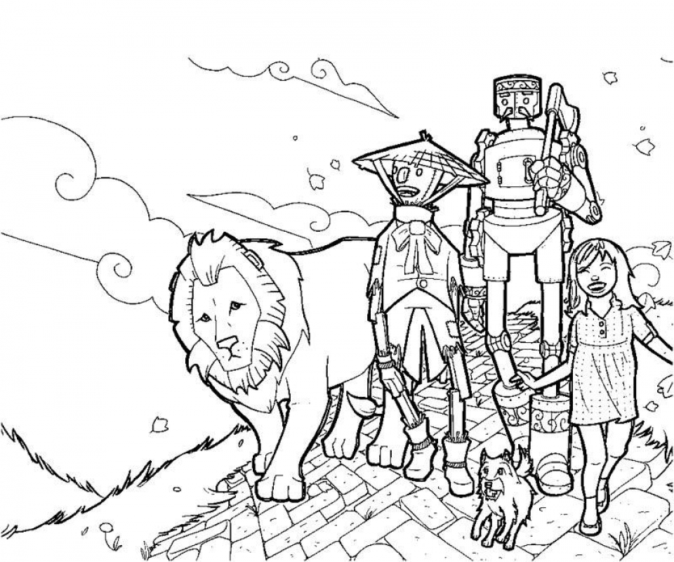 Wizard Of Oz Coloring Pages To Print Free