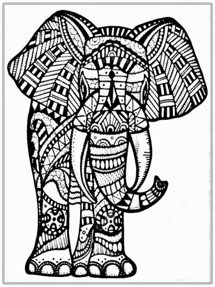 Abstract Halloween Coloring Pages : Get this abstract elephant coloring pages