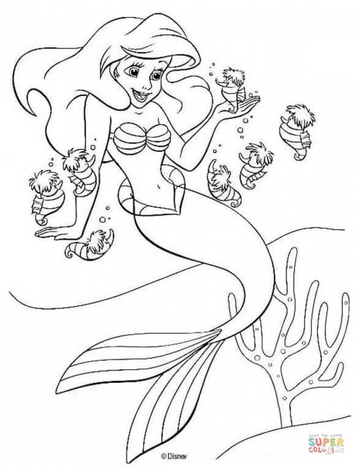 Ariel Coloring Pages Printable for Kids   r1n7l