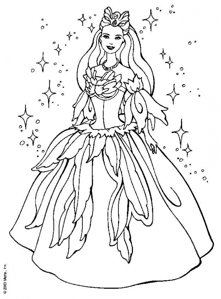 Barbie Coloring Pages to Print for Kids   aiwkr