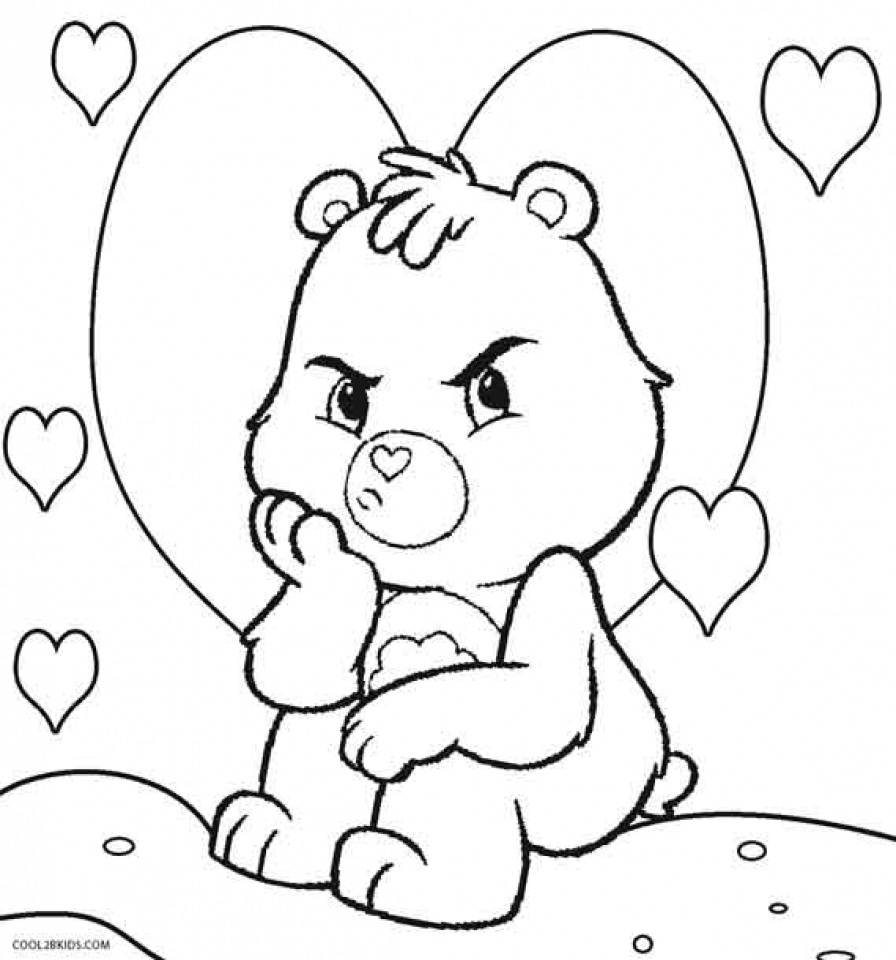 Get This Care Bear Coloring Pages to Print Online lj8rr