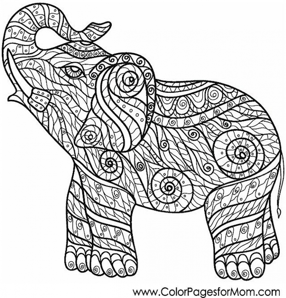 challenging coloring pages for adults - get this challenging coloring pages of elephant for adults