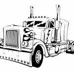 Children's Printable Optimus Prime Coloring Page   5te3k