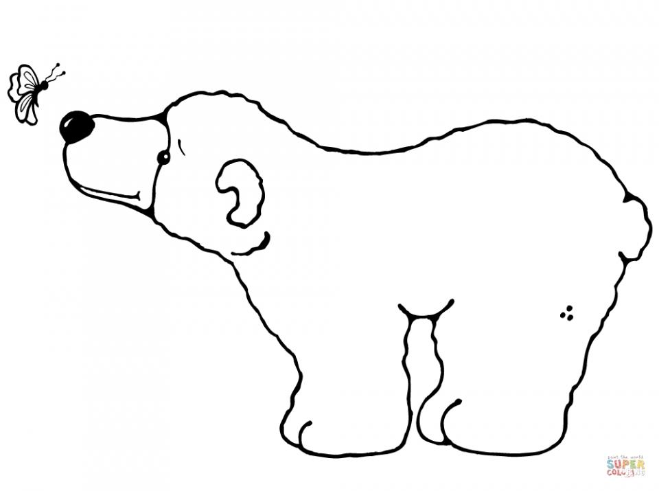 Children's Printable Polar Bear Coloring Pages   5te3k