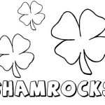 Children's Printable Shamrock Coloring Pages   5te3k