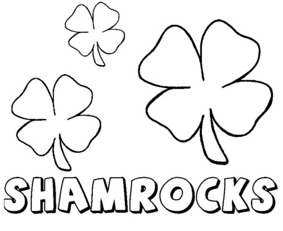 shamrock coloring pages - Shamrock Coloring Pages
