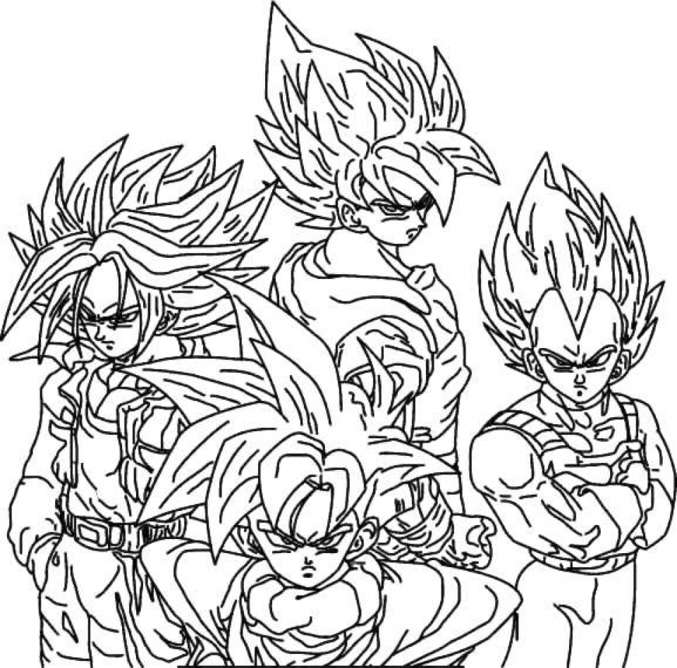 dbz coloring pages