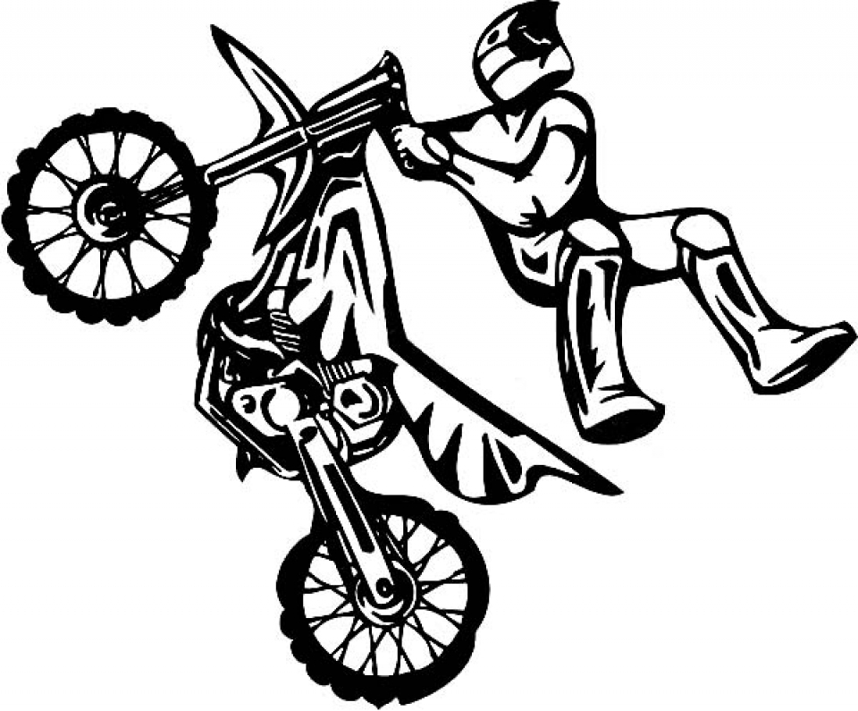 Get this dirt bike coloring pages free for kids e9bnu - Moto cross dessin ...