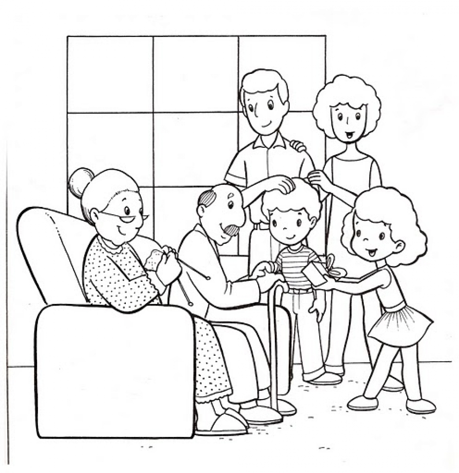 Get this easy family coloring pages for preschoolers 9iz28 for Photo to coloring page