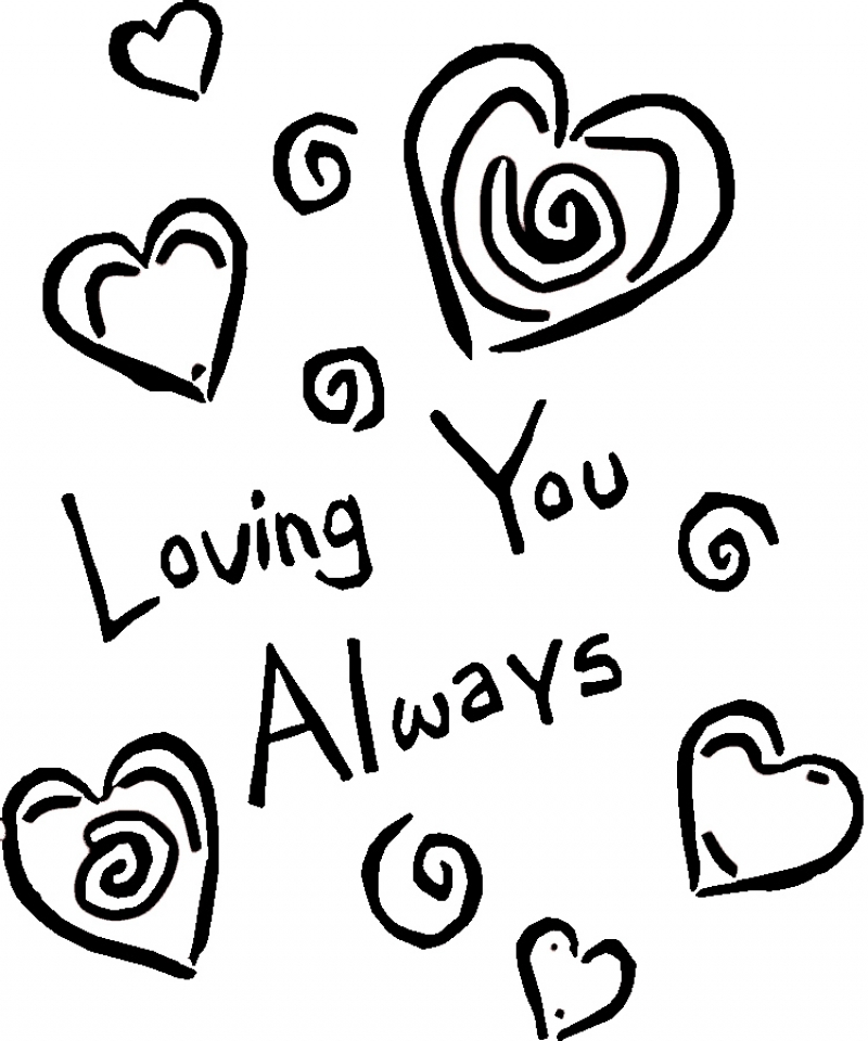 Get This Easy I Love You Coloring Pages For Preschoolers