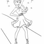 Easy Preschool Printable of Barbie Coloring Pages   qov5f