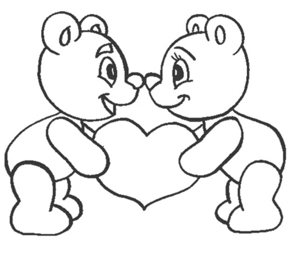 Easy Preschool Printable of I Love You Coloring Pages   qov5f