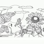 Easy Preschool Printable of Nature Coloring Pages   qov5f