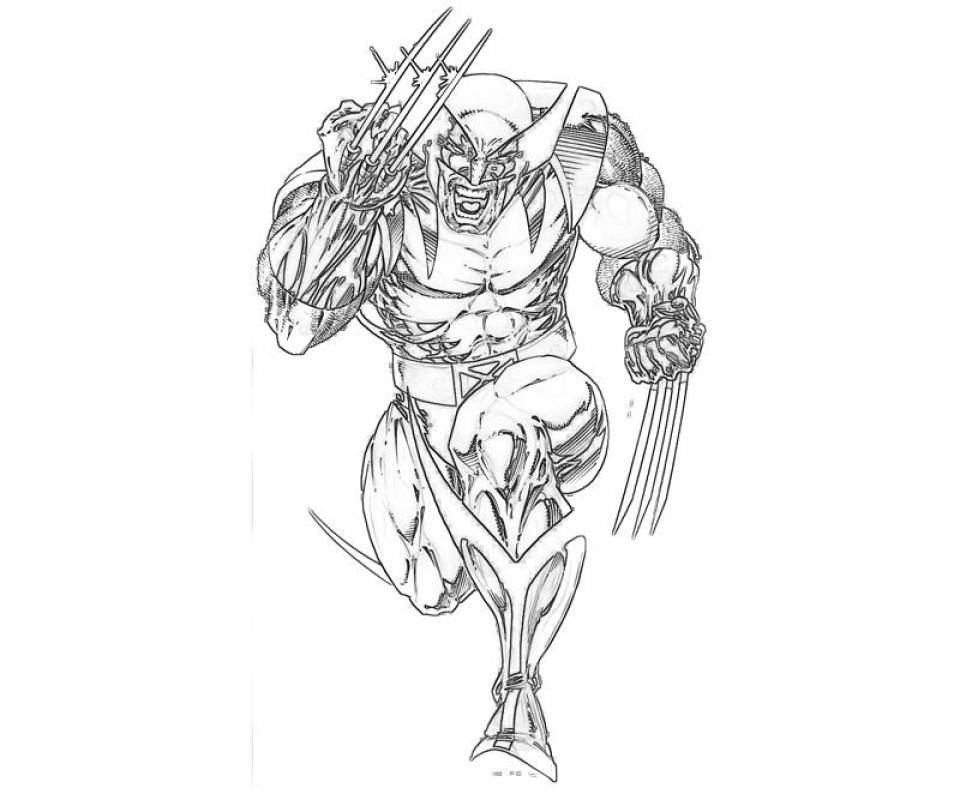 Easy Preschool Printable of Wolverine Coloring Pages   A5BzR