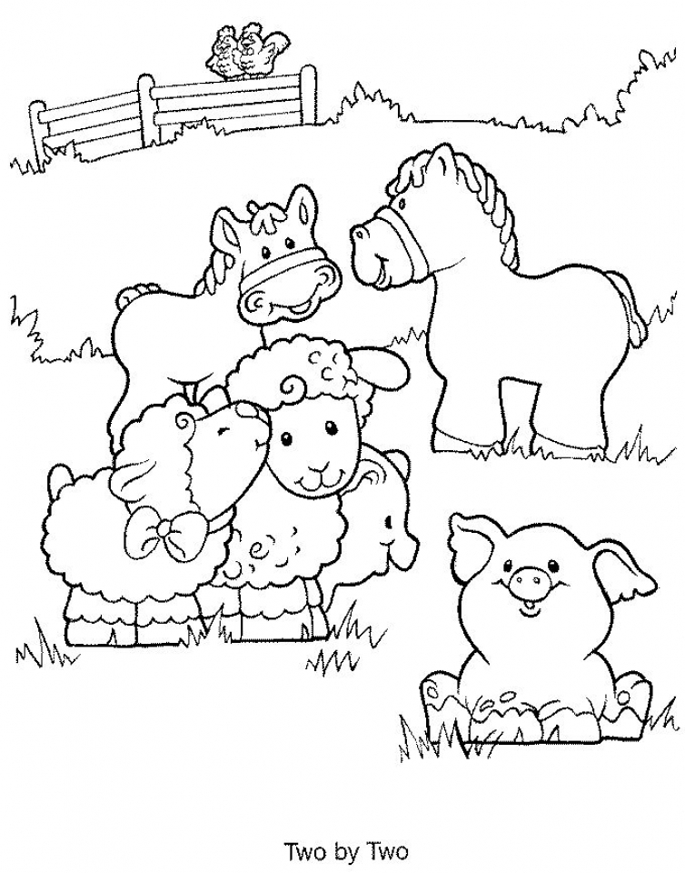 Easy Printable Farm Animal Coloring Pages for Children   la4xx