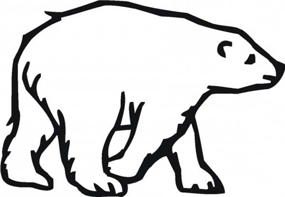 Get this easy printable polar bear coloring pages for for Polar bear coloring pages