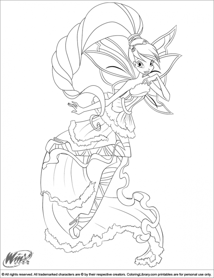 Easy Printable Winx Club Coloring Pages for Children   la4xx