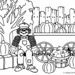 Easy Scarecrow Coloring Pages for Preschoolers   XoN4i