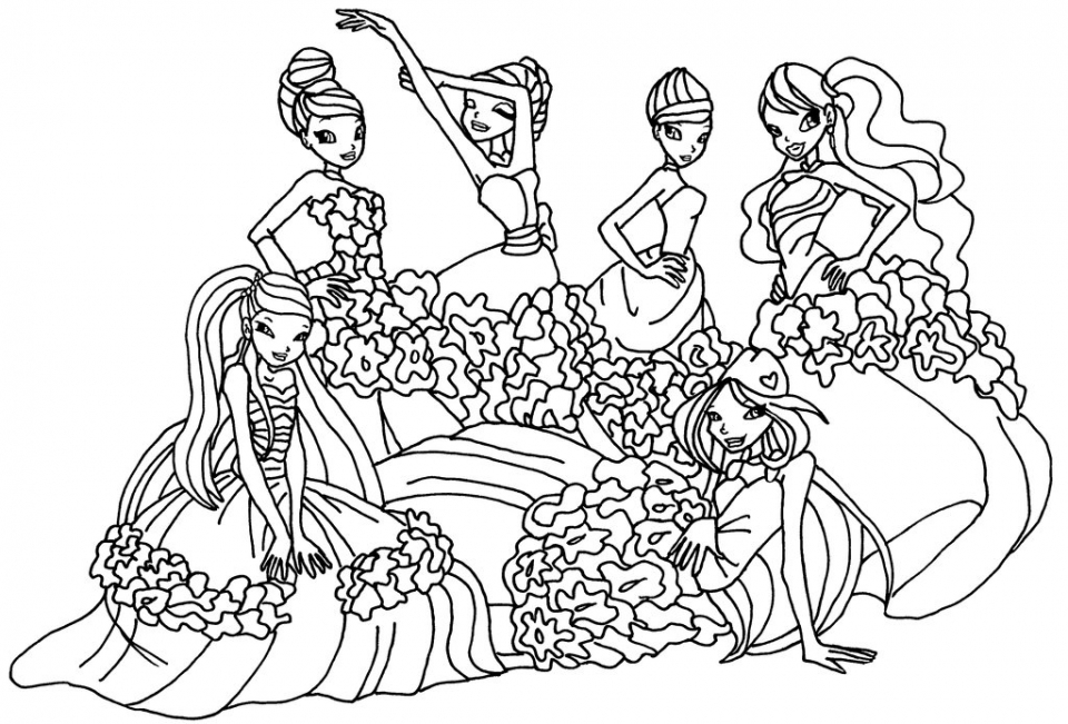 Easy Winx Club Coloring Pages for Preschoolers   9iz28