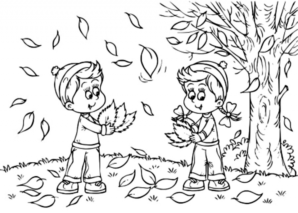 Fall Coloring Pages for Toddlers   dl53x