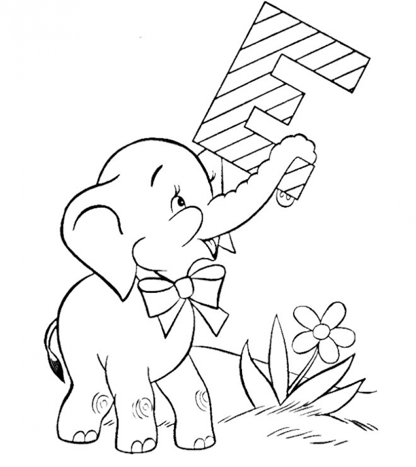 Get this free baby elephant coloring pages for for Elephant coloring pages