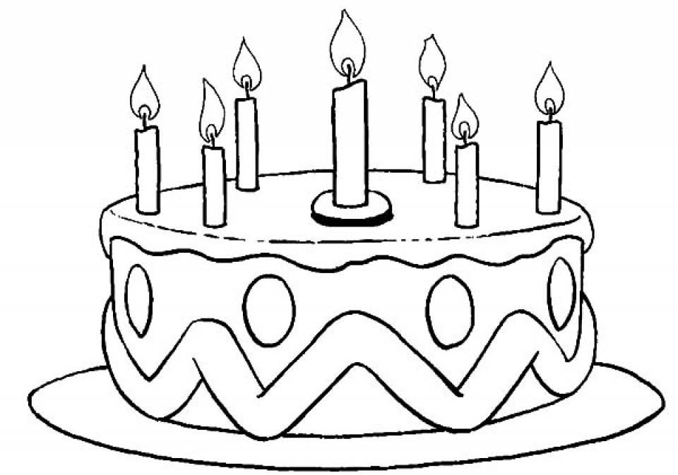 20+ Free Printable Birthday Cake Coloring Pages - EverFreeColoring.com