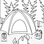 Free Camping Coloring Pages   92377