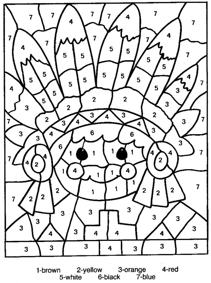 Free Color By Number Pages   46159