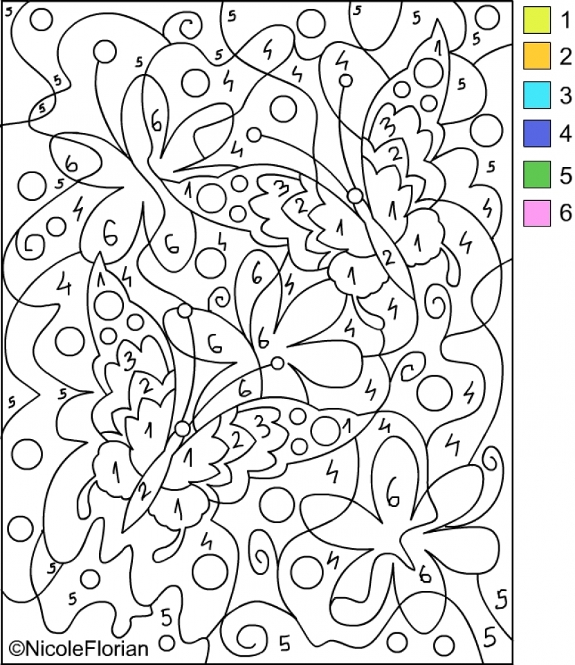 Free Color By Number Pages   92377