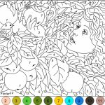 Free Color By Number Pages to Print   16629