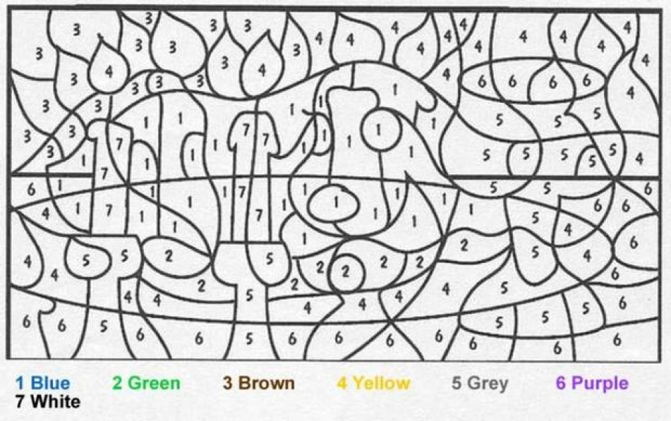 Free Color By Number Coloring Pages - Democraciaejustica